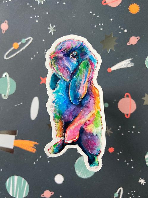 Pop Art Bunny Sticker