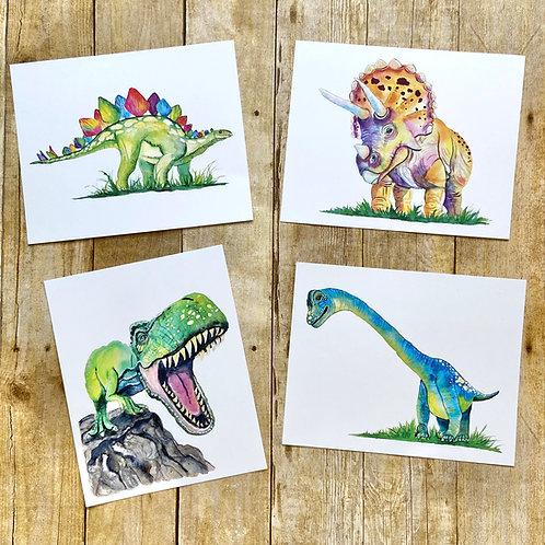 Dinosaur Art Print Set
