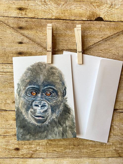 Walter Gorilla Notecard