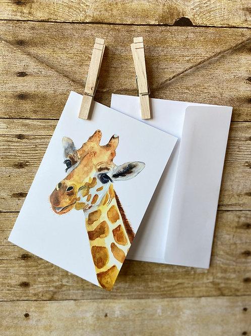 Roger Giraffe Notecard