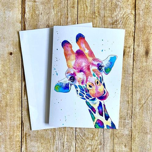 Ziggy Giraffe Note Card