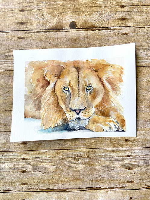 Henry Lion Original Painting