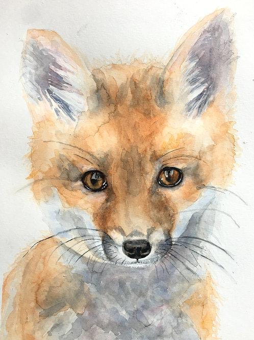 Sophia Fox Watercolor Print