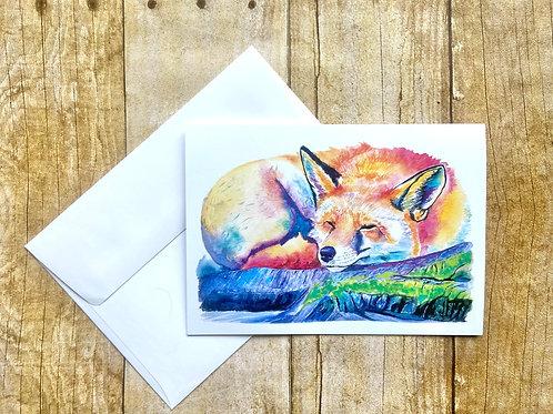Sleeping Fox Note Card