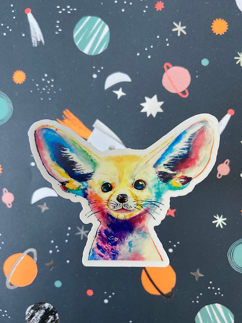 Pop Art Fennec Fox Sticker