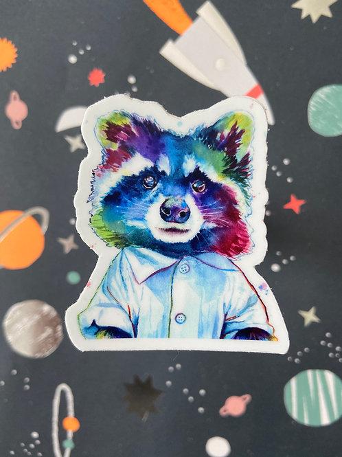 Pop Art Raccoon Sticker