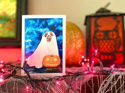 Spooky Dog Halloween Note Card