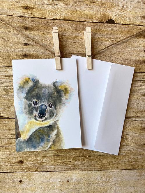 Stuie Koala Notecard