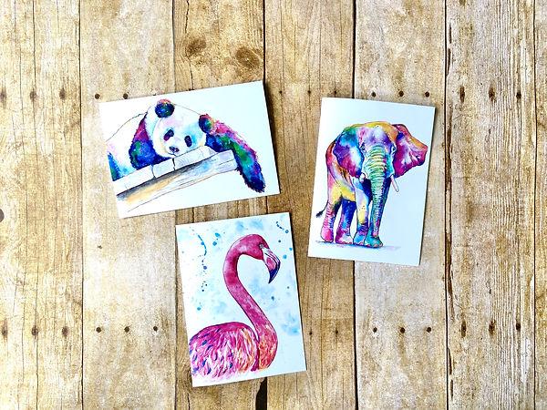 Pop Art Animals Note Card Set.JPG