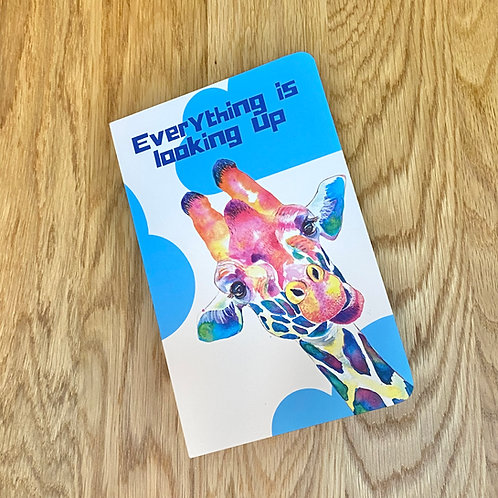 Everything is Looking Up (Giraffe) Softcover Notebook