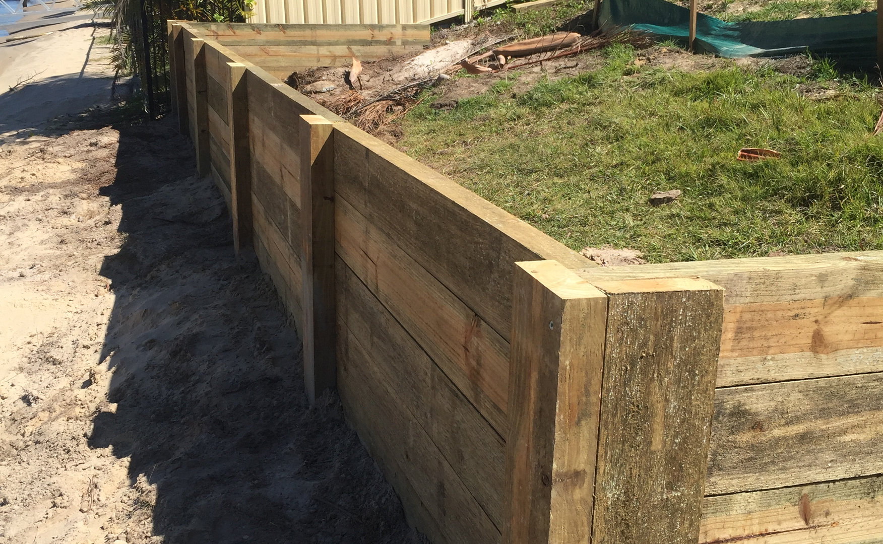 Sleeper Retaining Wall Project