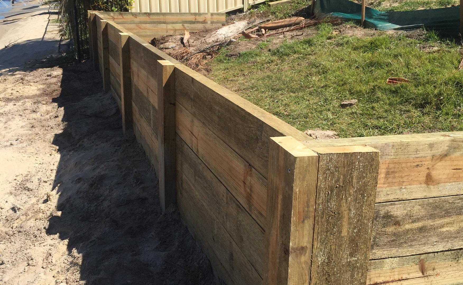 Sleeper Retaining Wall Project