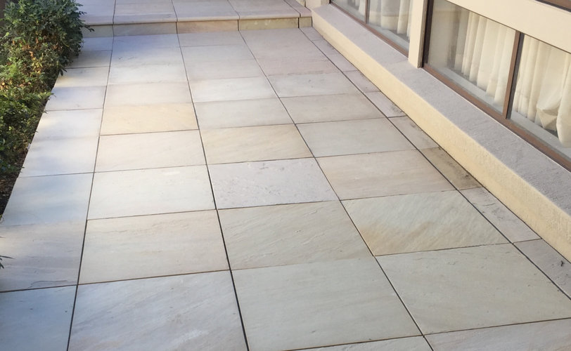 Sandstone Paving Project