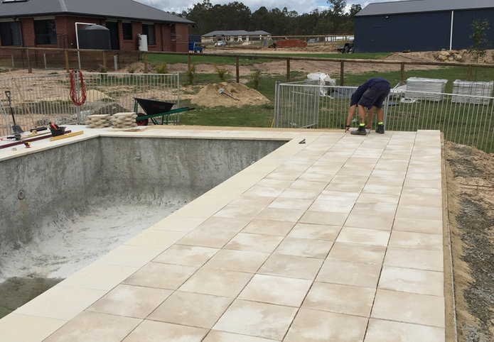 Pool Area Paving Project