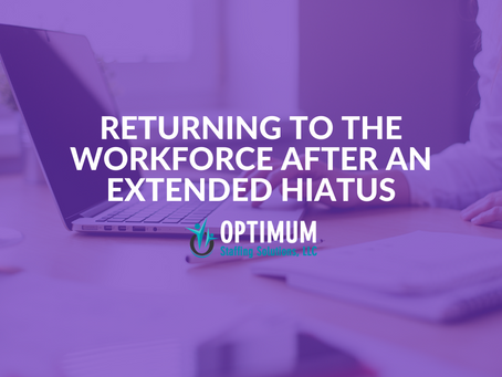 Resume Gaps: Going Back to Work After an Extended Break