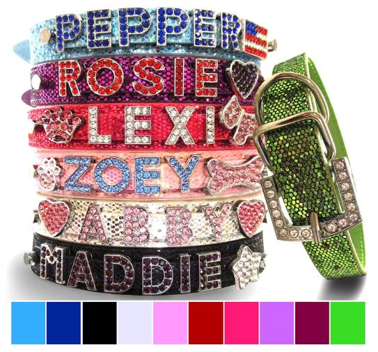 custom bling collars