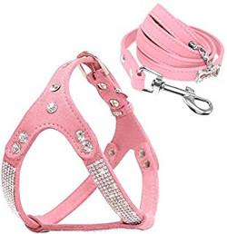 sparkley crystal dog vest leash