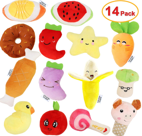 14 pack squeaky toys