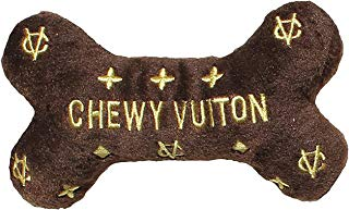 chewvuiton dog bone plush
