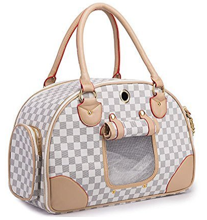 leather fashion pet carrier