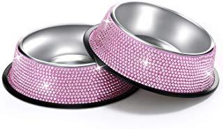 Bling pink dog bowls