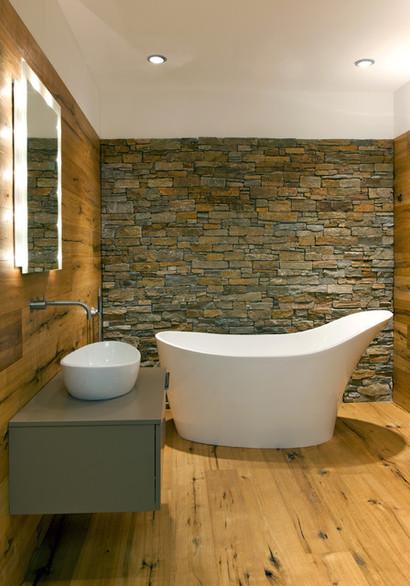Holz/Stein Kombination