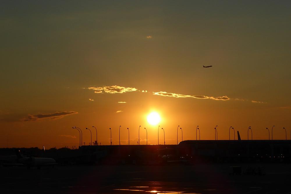 Zonsondergang in Chicago