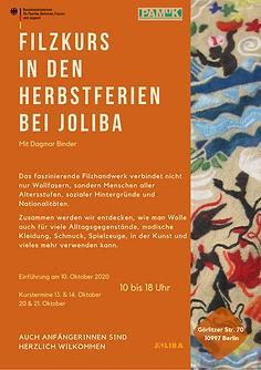 Filzkurs in den Herbstferien in Berlin 2020