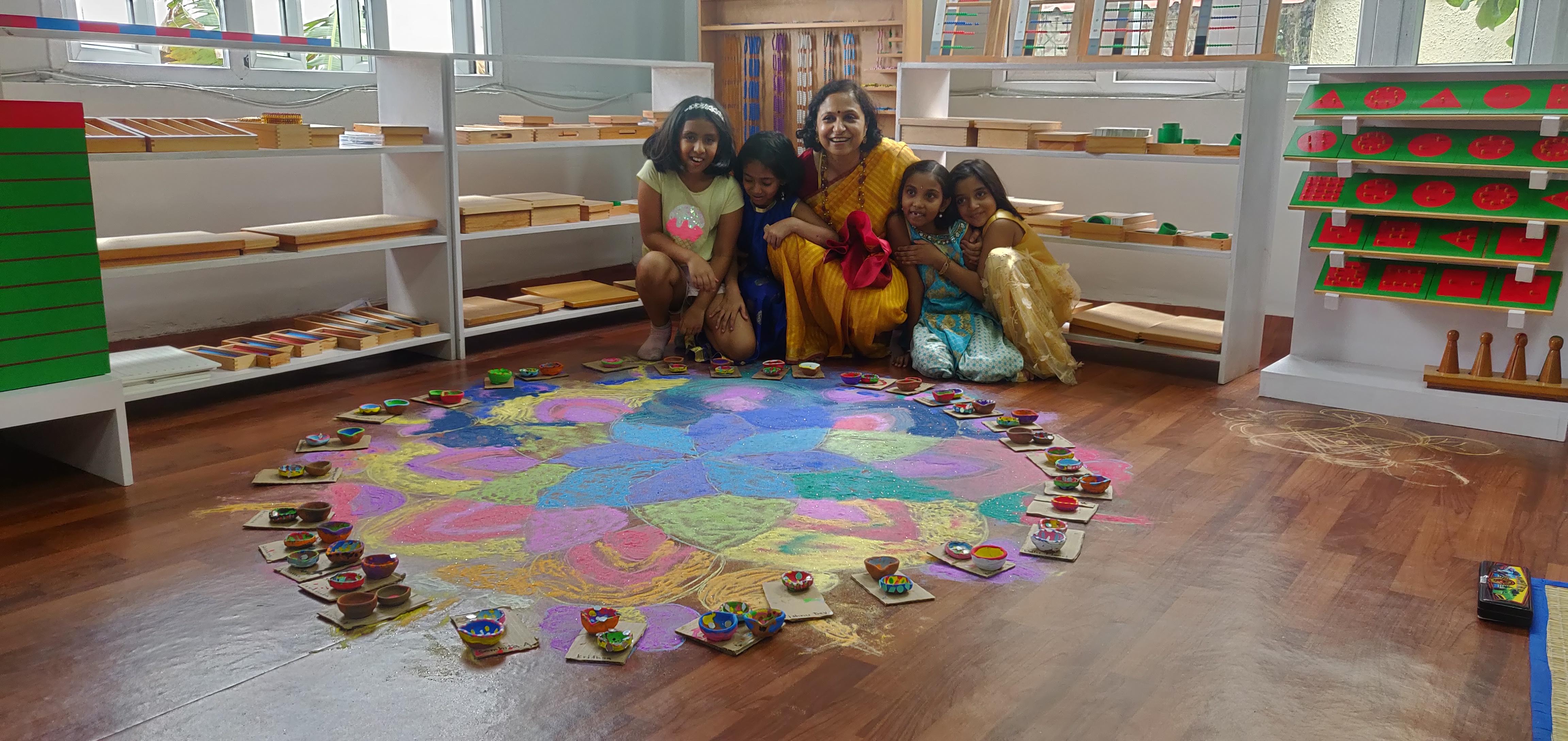 Beautiful Rangolis done by LE team!