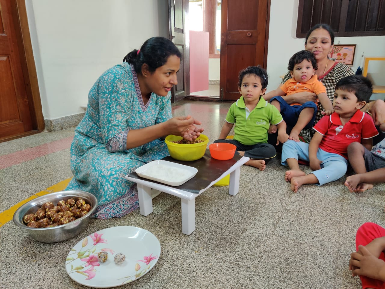 Making nutritious sweets for Diwali