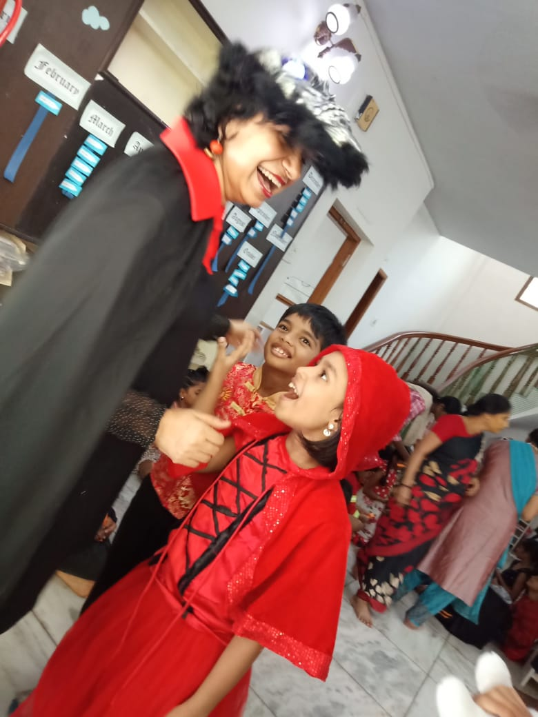 With Ms. Little Red Riding hood