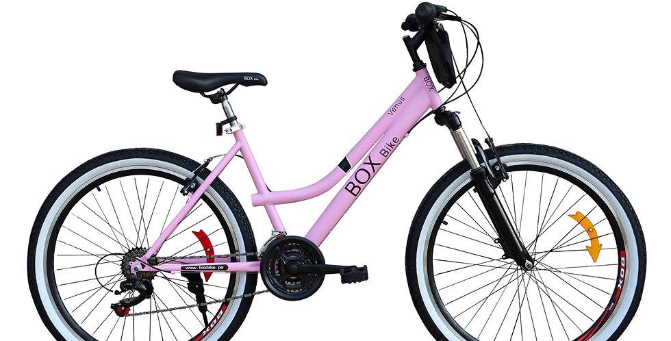 Bicicleta Box Bike MTB Con Suspensión Delantera con Shimano Aro 26 - Rosado