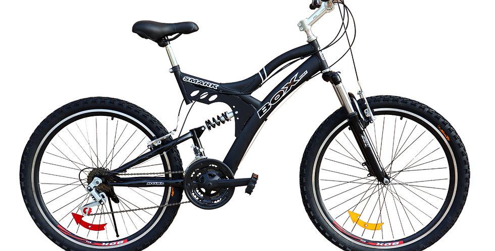 Bicicleta Box Zeus Aro 26 Doble Amortiguador - Negro
