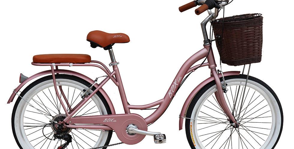 Bicicleta Vintage Box Bike Aros 24 y 26 - Rosado Metálico