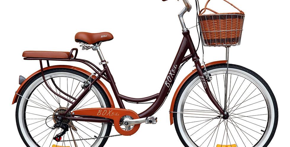 Bicicleta Box Vintage Aro 26 con Shimano Tourner - Marrón