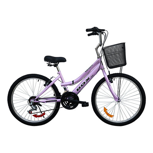 Bicicleta Box Campera Aro 24 - Lila
