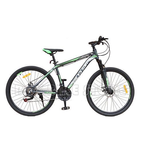 Bicicleta de Aluminio Modelo Bicystar Aro 26 -Negro conVerde