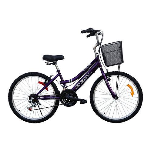 Bicicleta Box Campera Aro 24 - Morado