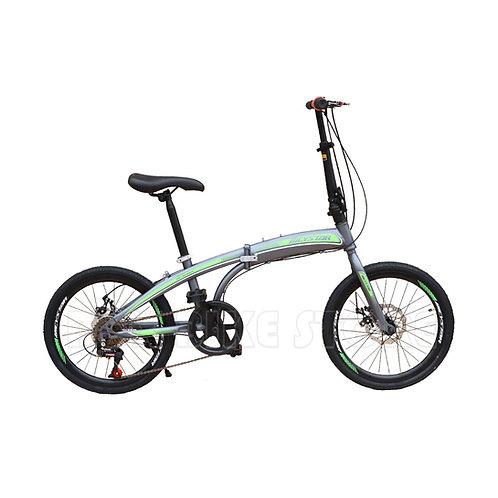 Bicicleta Plegable Aro 20 Con Frenos de Disco  Unisex Modelo 2021 - Gris