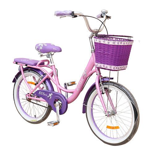 Bicicleta Box Bike Vintage Aro 20 - Rosada con Morado