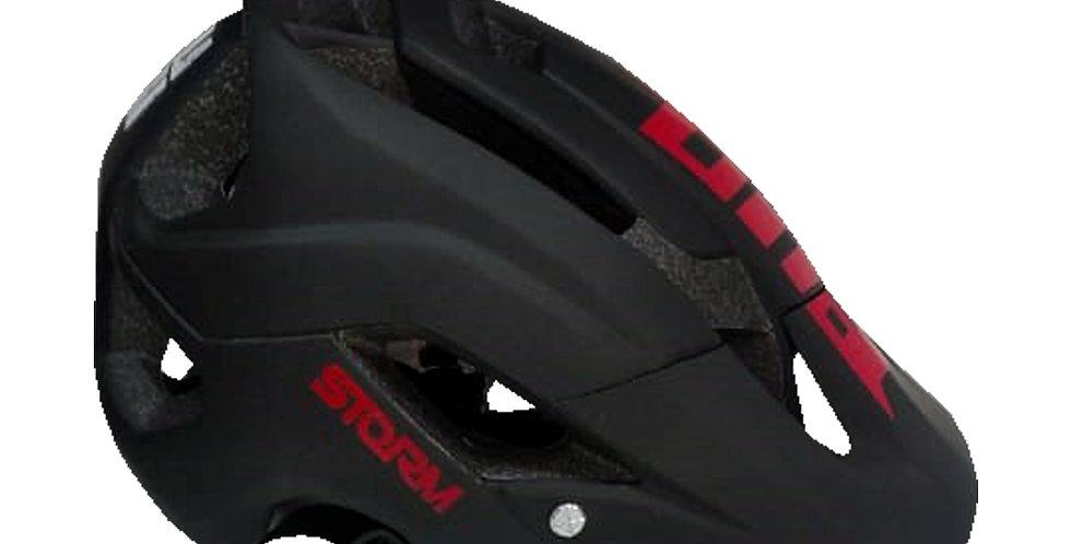 Casco para Ciclista Certificado - Negro con Rojo