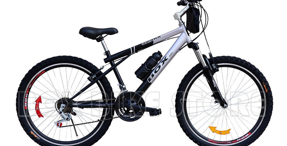 Bicicleta Box Bike MTB Aro 26 con Suspensión Delantera - Negro con Gris