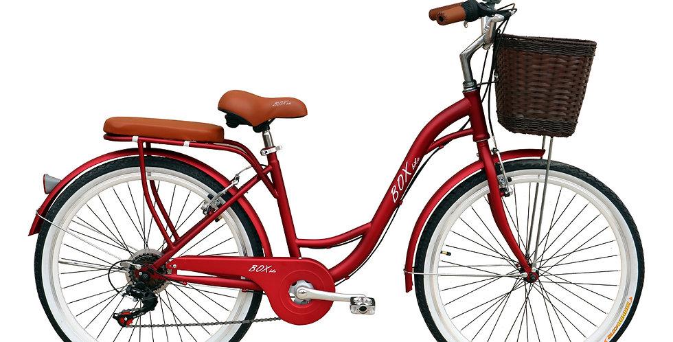 Bicicleta Vintage Box Bike Aros 24 y 26 - Rojo Metálico