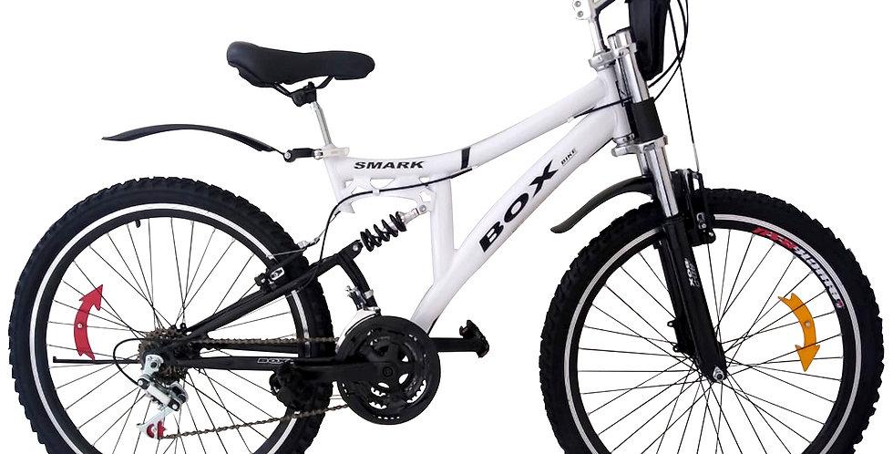 Bicicleta Montañera Aro 26 Doble Amortiguador Unisex Blanco