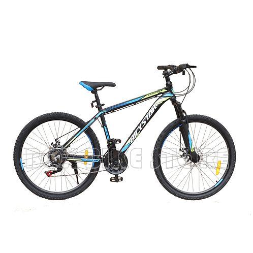 Bicicleta de Aluminio Modelo Bicystar Aro 26 -Negro con Azul