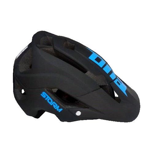 Casco para Ciclista Certificado - Negro con Azul