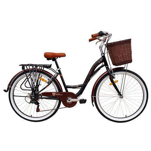 Bicicleta Box Vintage Modelo Romántica Aro 26 - Negro
