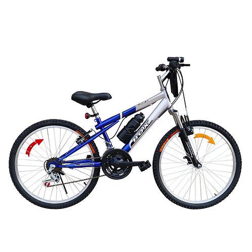 Bicicleta Box Bike MTB con Suspensión Delantera Aro 24 - Azul & Gris