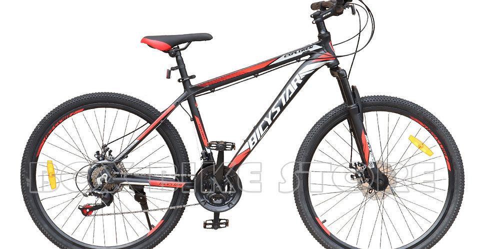 Bicicleta de Aluminio Modelo Bicystar Aro 26 -Negro con Rojo