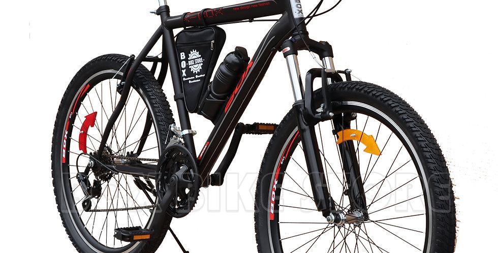 Bicicleta Box Bike Modelo Elite Aro 26 - Full Shimano Negro con Rojo